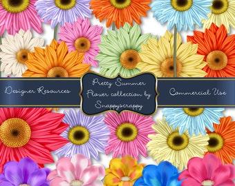 Flowers, Digital Scrap Kit,  Digital Scrapbooking, Flower Mixture, Floral Scrap Kit, Commercial Use, Instant Download,Flowerheads