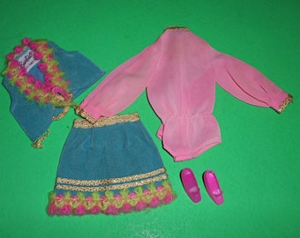 Vintage Barbie Gypsy Spirit #1458 (1970) Pink Body Blouse