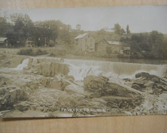 Fairfax Falls, Vt, Vermont, Real Photo Postcard, RPPC, 1910
