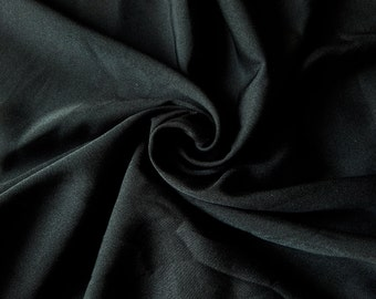 1 yard of Crepe Fabric, Indian Polyester Fabric, Skirt Fabric, Black Crepe Fabric, Crepe Fabric