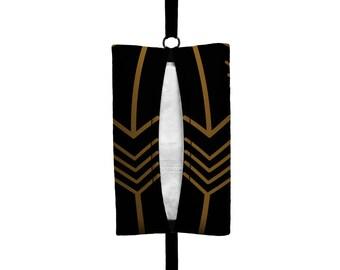 Auto Sneeze - Arrows - Visor Tissue Case/Cozy - Car Accessory Automobile Black Bronze Golden Dark Tan