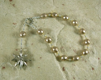 Seshet (Seshat) Pocket Prayer Beads: Egyptian Goddess of Writing, Wisdom and Knowledge