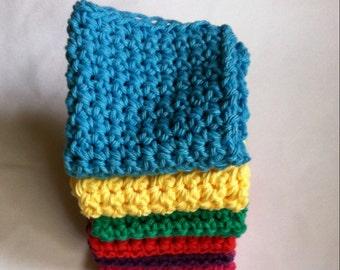 Washcloth - Dishcloth - Handmade Cloth - Crochet Washcloth - Crochet Dishcloth - Cotton Dishcloth - Cotton Washcloth - Baby Washcloth