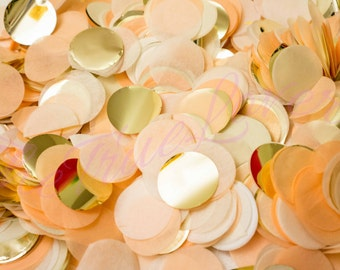 Peach/ Gold/ Champagne/ wedding confetti /birthday/table confetti/ noel/ christmas /confetti toss/ballon confetti/ Baby Shower/Weddings