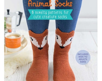 Knitted Animal Socks - PDF ebook - Knitting patterns - instant download - PDF file
