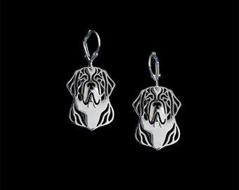 St. Bernard earrings - sterling silver