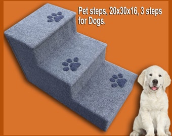 Pet steps, 20H x 30D x 16W, 3 steps for Dogs