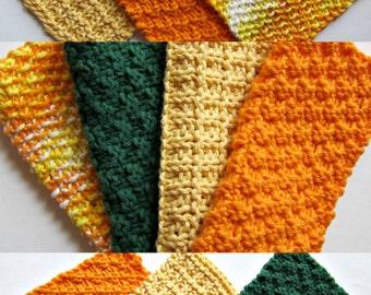 6 Knit Dishcloth Patterns Tutorials - E-book PDF -  Fast Easy Ecofriendly DIY  - Instant Download