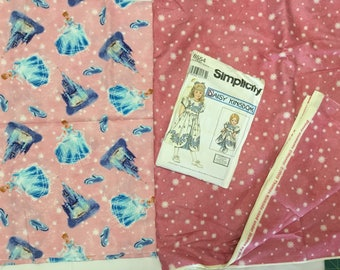 Daisy Kingdom Girls Dress Pattern with 5-3/4 yards of fabric