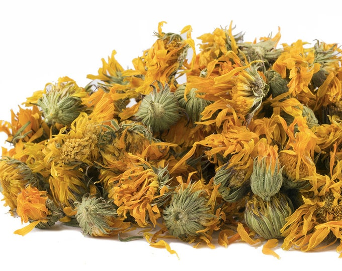 Calendula Flowers wild crafted, cut and sifted    Calendula officinalis   Dried Bulk Herb   1 oz bag