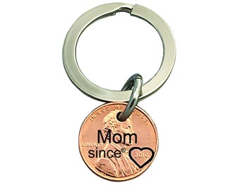 Mom Since Penny - Mommy Since - Daughter Gift For - Engraved Penny - Son Gift For - New Mom - Best Mom