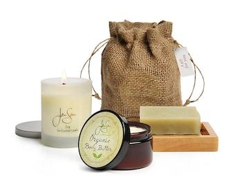 Jensan Organic 4-piece Bath and Body Aromatherapy Spa Gift Set