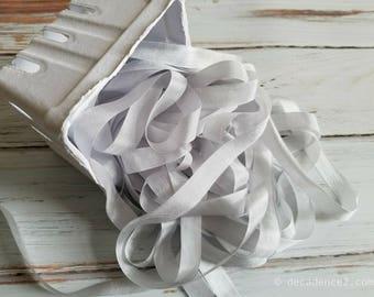 5 yards White Seam Binding. Verpackung, Scrapbooking, schäbig hübsche Verzierung