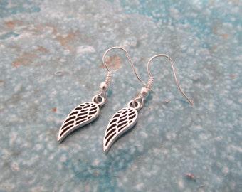 Wing earrings, angel earrings