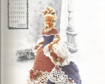 Crochet Pattern, Crochet Barbie Doll Clothes Pattern, Fashion Doll Clothes Pattern, Miss June