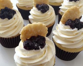 Blueberry Pie Cupcakes