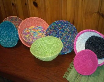 Fabric Coiled Bowls