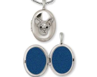 Chihuahua Photo Locket Jewelry Sterling Silver Handmade Dog Photo Locket CH-XV