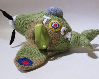 WWII Spitfire Tea Cosy Knitting Pattern