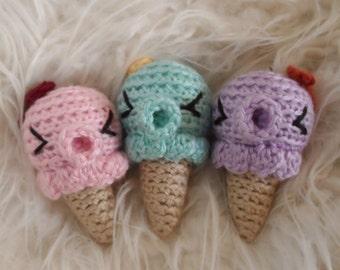 Kawaii Ice Cream Animal Keychain Dangle - Cute Pastel Octopus Takochu