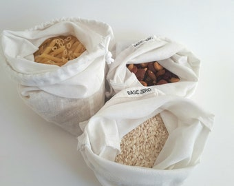 Reusable produce bag, bulk bag, zero waste bag, cotton bag, grocery bag, conscious gift, plastic free