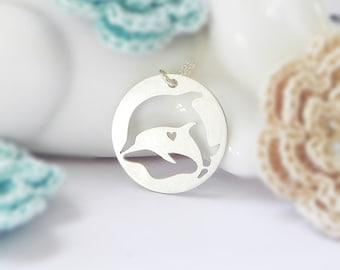 Delphin Halskette, 925er Silber