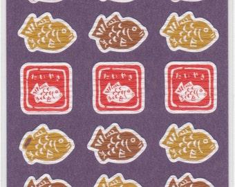 Japanese Taiyaki Washi Stickers - Reference A3636