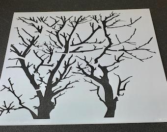 Mini Tree branches 6 x 6 Laser Cut Stencil