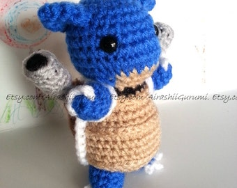 Blastoise Crochet Chibi Pokemon Amigurumi Plush