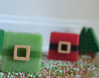 Elf Soap, Elf Glycerin Soap, Handmade Elf Soap, Christmas Soap, Holiday Soap, Christmas Soaps, Christmas Favors,Christmas Handmade Soaps
