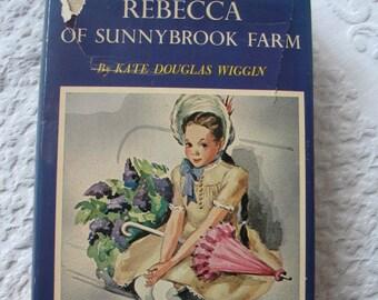 Child  Book Rebecca of Sunnybrook Farm Classic Kid Book Vintage Retro Library Decor Juvenile Fiction Kate Douglas Wiggin