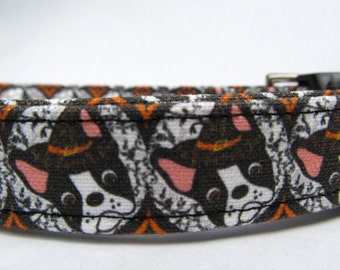 Reserved listing for  dlr1222 - Boston Terrier Witch Dog Collar