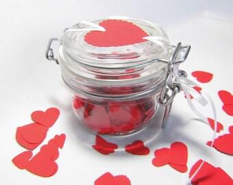 Confetti in the glass heart confetti Confetti Hearts table Jewelry Valentine's Day paper Confetti Hearts Confetti Hearts Wedding Confetti Engagement
