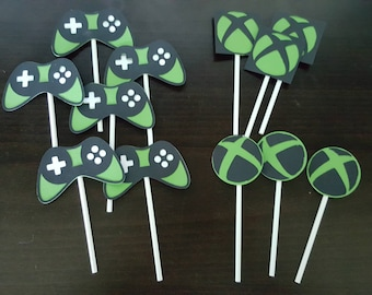 Xbox  Themed Cupcake Toppers