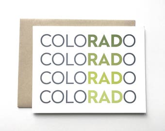 Colorado Card. I miss you card. I love Colorado card. Colorado is rad card.