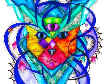 Space Cat Print