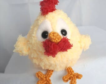 Chicken.  Perfect little pocket  surprise. 3 inches tall