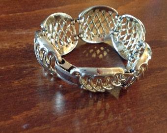 Vintage Retro Coro Gold Tone Link Bracelet