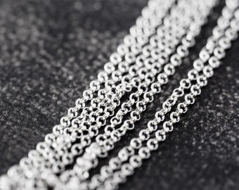2151 Thin 925 sterling silver chain 1.5mm Belcher chain Rolo silver chain Anchor chain 925 Italy silver chain Chain for jewelry making 1 m