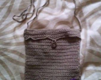 Yarn Purse Light Brown