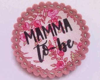Mamma to Be Baby Shower Badge