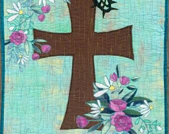 Risen art quilt pattern/Easter quilt pattern/christian quilt pattern