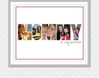 MOMMY is my favorite Picture Word - 8x10 - EOgdenAve - Gift for new mom, grandma, wife, mother