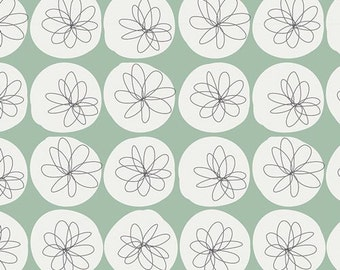 Art Gallery Fabric Mint Green Floral Fabric 10% cotton Gossamer Spotted Mist Dressmaking/Quilting