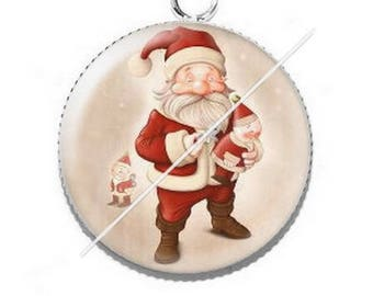 Pendant cabochon resin Merry Christmas happy holidays 11