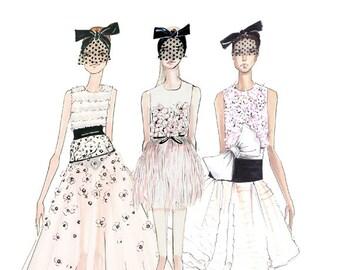 Giambattista Valli-Fashion Illustration-Fashion Print-Couture-Couture Sketch-Brooke Hagel-Brooklit