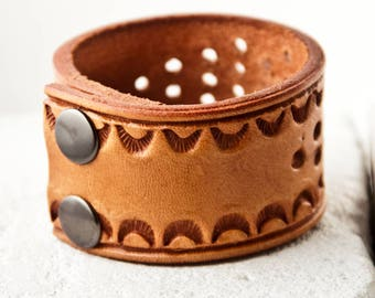 Leather Cuff, Leather Jewelry, Leather Bracelet, Leather Wristband Sale