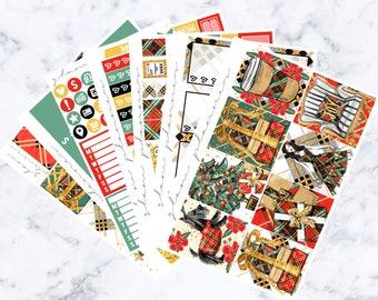 Noel Luxe Sticker Kit (Glam Planner Stickers for Erin Condren Life Planner)