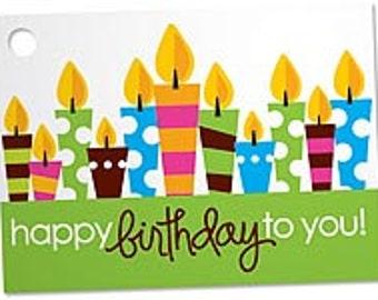 Happy Birthday To You Blank Note Card, Birthday Gift Card, Happy Birthday Candles Note Card, Cute Birthday Card, Sunny Bunny Gardens