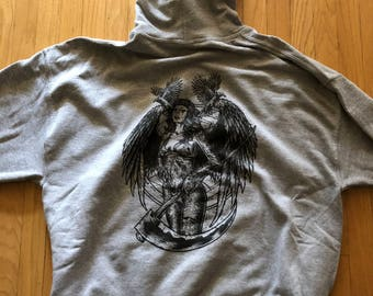 Heather grey dark angel hoodies